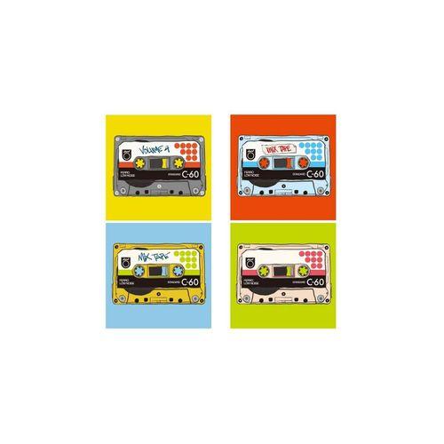 HTI-Line Glasuntersetzer Untersetzer 4-tlg Mixtape