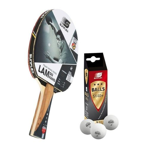Sunflex Tischtennisschläger »LAM SIU HANG + 3x SX+ Bälle«