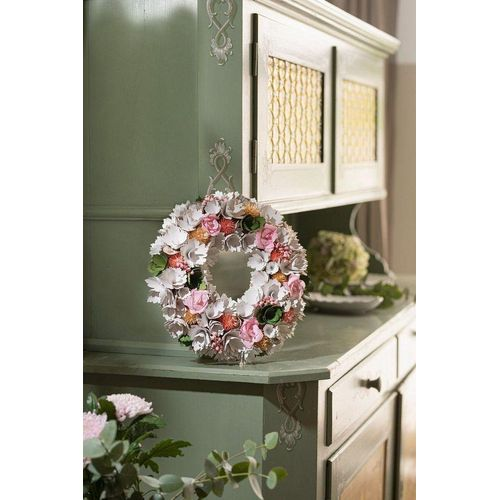 HomeLiving Dekokranz »Holzblüten«, beige