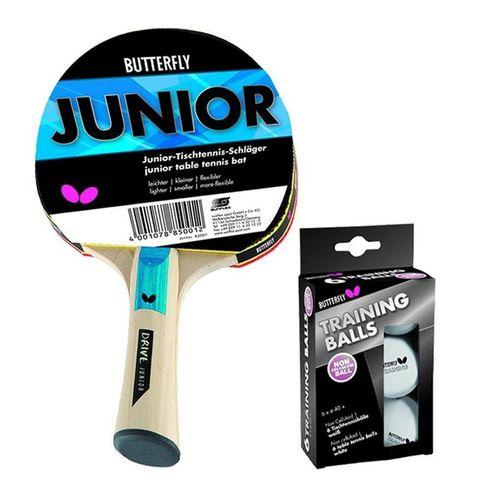 Butterfly Tischtennisschläger »Junior + 6 Bälle weiß«