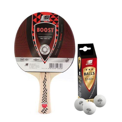 Sunflex Tischtennisschläger »1x Boost + 3x SX+ Bälle«