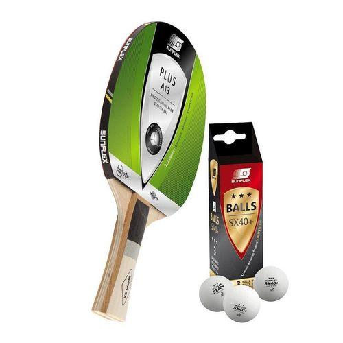 Sunflex Tischtennisschläger »Plus A13 + 3x SX+ Bälle«