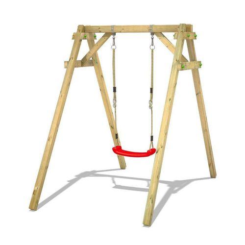 Wickey Einzelschaukel »Schaukelgestell Smart One - Schaukel, Schaukelgerüst, Kinderschaukel, Holzschaukel«, rot