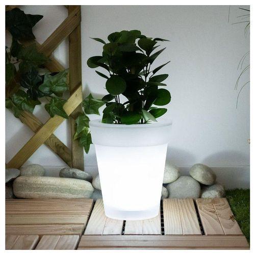 etc-shop LED Dekolicht, Solar LED Blumenkübel Blumentopf Blumentopf leuchtend Solar Blumentopf Beleuchtung