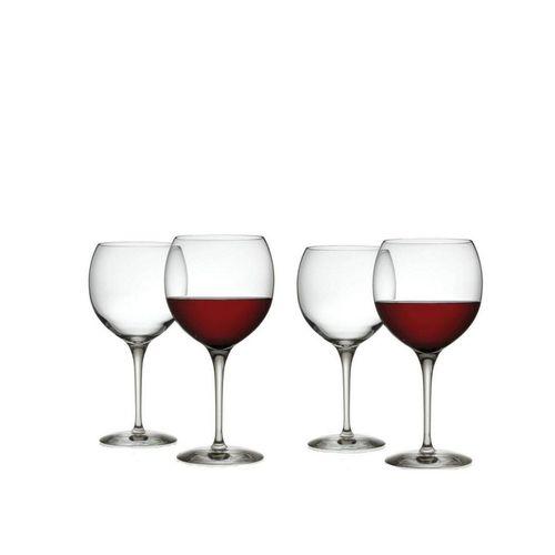 Alessi Rotweinglas »Rotweinglas - Mami XL - 4er Set«, Kristallglas