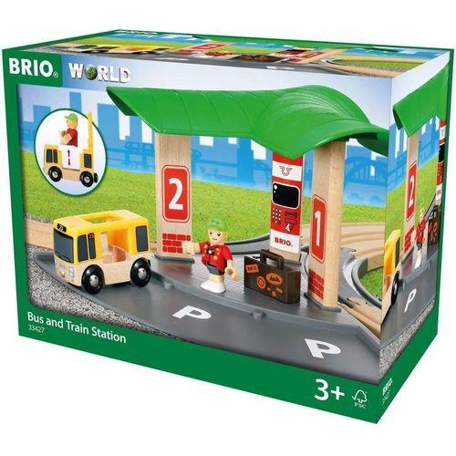 BRIO® Spielzeug-Eisenbahn »BRIO World 33427 Bus- und Zugbahnhof