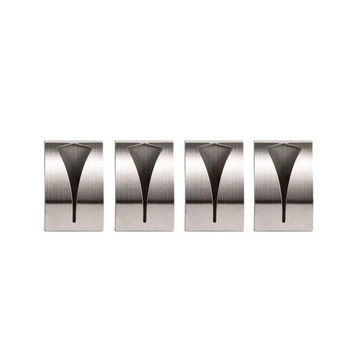 Handtuchhaken »4x Selbstklebend aus rostfreiem Edelstahl geeignet für Bad und Küche − Handtuchhalter Handtuchklemme Geschirrtuchklemme«, BigDean, (4-St)