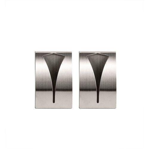 Handtuchhaken »2x Selbstklebend aus rostfreiem Edelstahl geeignet für Bad und Küche − Handtuchhalter Handtuchklemme Geschirrtuchklemme«, BigDean, (2-St)