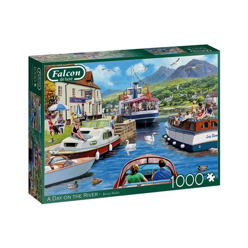 Falcon Puzzle »11241 Kevin Walsh ein Tag am Fluss«, 1000 Puzzleteile, bunt