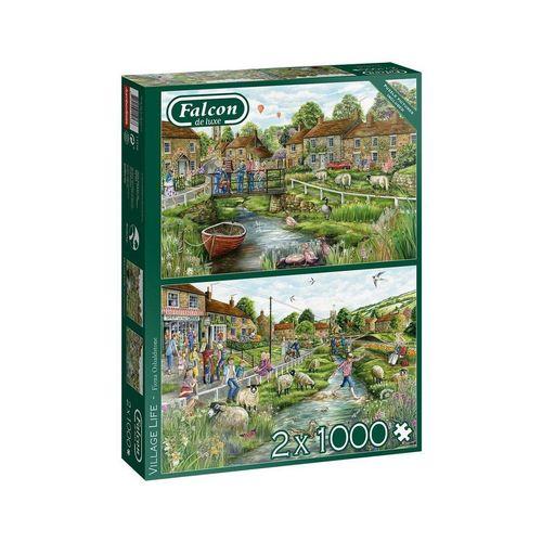 Falcon Puzzle »Falcon 11216 Village Life 2x1000 Teile Puzzle«, Puzzleteile, bunt