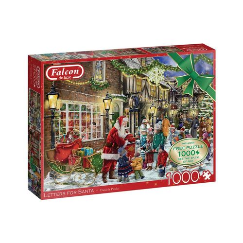 Falcon Puzzle »Falcon 11343 Daniela Pirola Briefe für Santa«, 1000 Puzzleteile, bunt