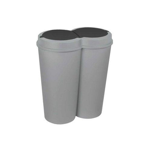 HTI-Living Mülleimer »Abfalleimer 2x 25 L DUO BIN«, grau