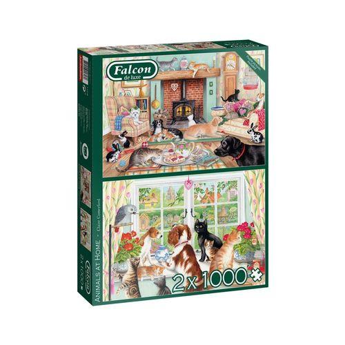 Falcon Puzzle »11318 Tiere zu Hause«, 1000 Puzzleteile, bunt