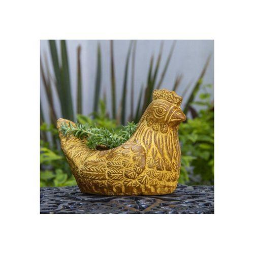 mitienda Blumentopf »Blumentopf aus Ton Huhn«