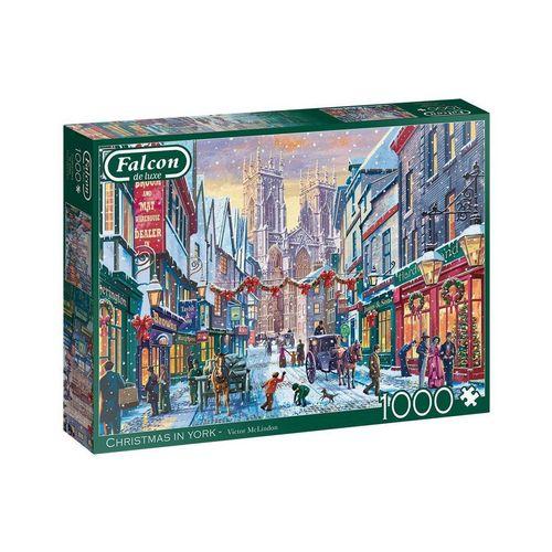 Falcon Puzzle »Falcon 11277 Christmas in York 1000 Teile Puzzle«, Puzzleteile, bunt