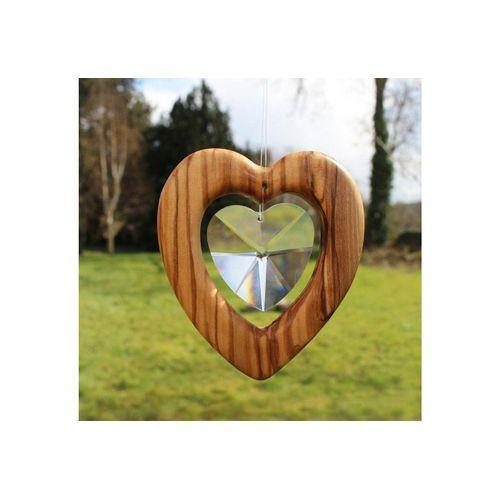 mitienda Fensterdekoration »Fensterdeko Herz mit Bleikristall