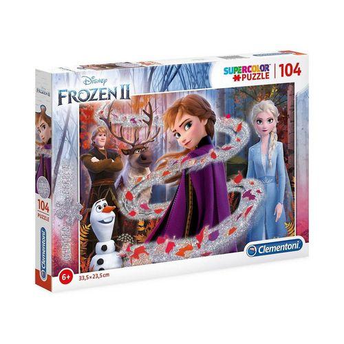 Clementoni® Puzzle »Puzzle 104 Teile Glitter Puzzle Die Eiskönigin 2«, Puzzleteile