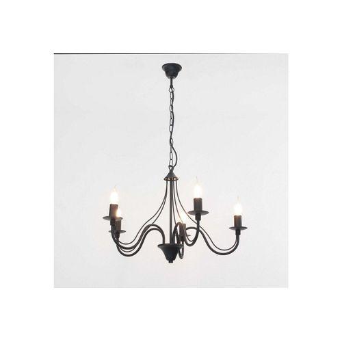 Licht-Erlebnisse Kronleuchter »FIORANO«, Schwarzer Kronleuchter rustikal Pendelleuchte Esstisch Hängeleuchte Lampe