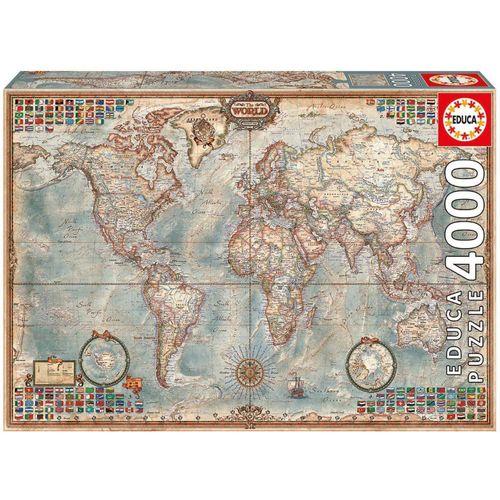 Educa Puzzle »DIE WELT - POLITISCHE KARTE«, 4000 Puzzleteile