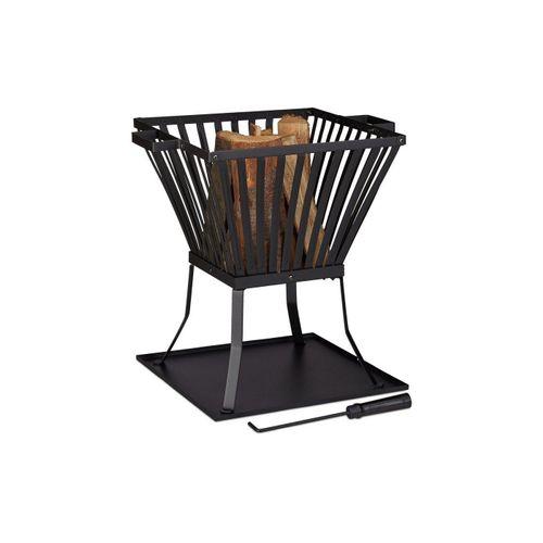 relaxdays Feuerkorb »Feuerkorb XL mit Schürhaken«