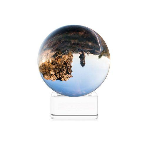 Navaris Dekoobjekt, Glaskugel Fotografie Kugel aus K9 Glas - Fotokugel mit Ständer - Kristallkugel klare Kristall Deko mit Glasständer - Ø 60mm