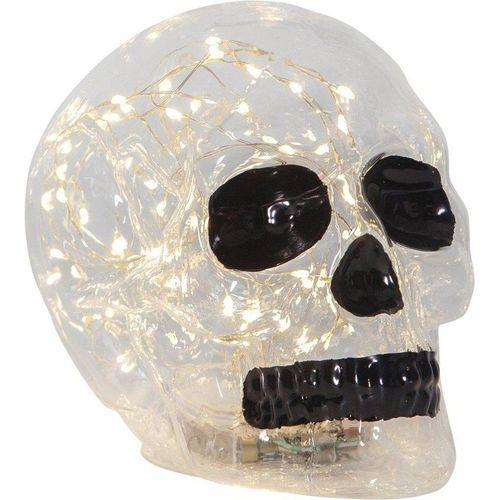 STAR TRADING Dekoobjekt »Kristallschädel Dekolampe mit 70 warmweißen LEDs - 18x13,5x12,5cm - Batterie - Timer«