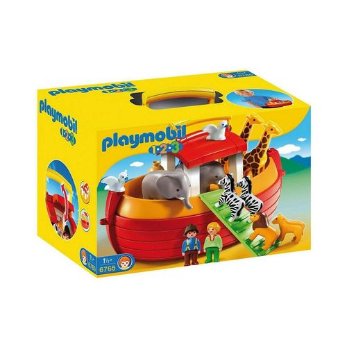 Playmobil® Spielfigur »PLAYMOBIL® 6765 1-2-3: Meine Mitnehm Arche Noah«