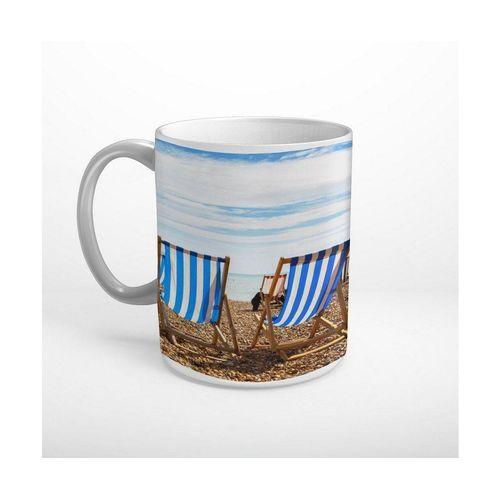 DesFoli Tasse »Meer Strand Sonnenstühle Sonnenschein T1847