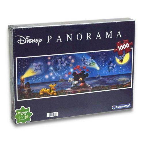 Clementoni® Steckpuzzle »Disney - Minnie & Micky Panorama Puzzle (1000 Teile)«, 1000 Puzzleteile