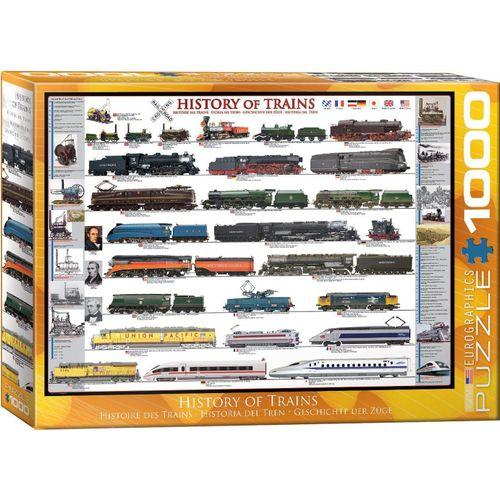 empireposter Puzzle »Entwicklung der Eisenbahn - 1000 Teile Puzzle im Format 68x48 cm«, 1000 Puzzleteile