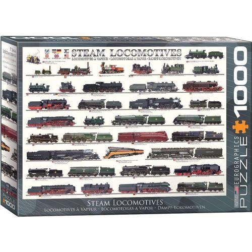 empireposter Puzzle »Geschichte der Dampflokomotive - 1000 Teile Puzzle im Format 68x48 cm«, 1000 Puzzleteile