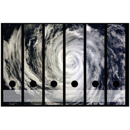 Wallario Aktenordner »Hurrikan von oben