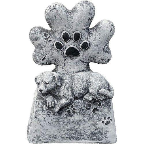 Stone and Style Dekoobjekt »Grabschmuck Grabstein Hund Tatze Steinfigur Steinguss«