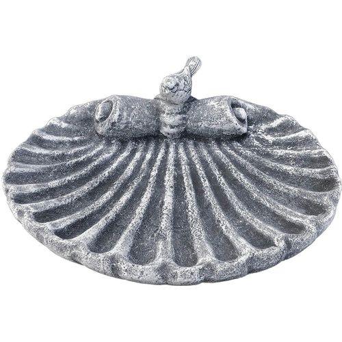 Stone and Style Vogeltränke »Vogeltränke Muschel aus massiven Steinguss frostfest«