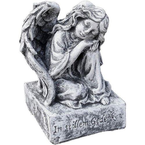 Stone and Style Engelfigur »Steinfigur kleiner Engel auf Sockel frostfest«