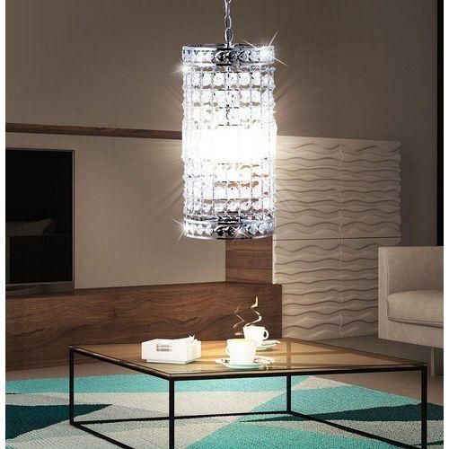 etc-shop LED-Hängeleuchte, Pendel Decken Kristall Strahler Esszimmer Leuchte chrom im Set inkl. LED Leuchtmittel