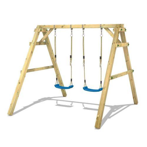 Wickey Doppelschaukel »Schaukelgestell Sky Dancer Prime - Schaukel, Schaukelgerüst, Kinderschaukel, Holzschaukel«, blau