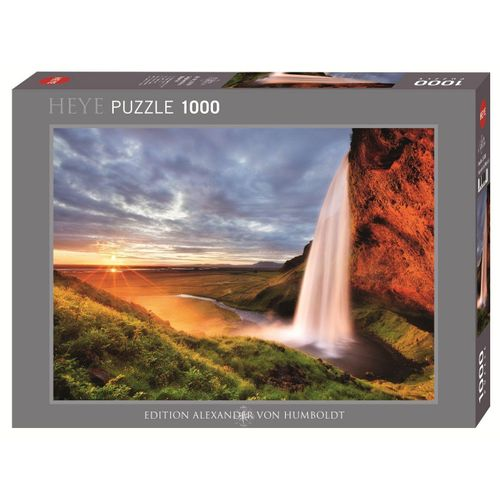 HEYE Puzzle »HEYE 29769 Edition Humboldt Seljalandsfoss Waterfall 1000 Teile Puzzle«, 1000 Puzzleteile, braun
