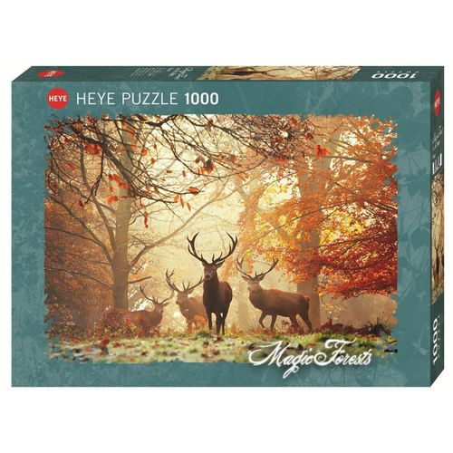 HEYE Puzzle »HEYE 29805 Magic Forests Stags, 1000 Teile Puzzle«, 1000 Puzzleteile