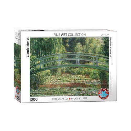 empireposter Puzzle »Claude Monet - Japanische Brücke im Garten von Giverny - 1000 Teile Puzzle im Format 68x48 cm«, 1000 Puzzleteile