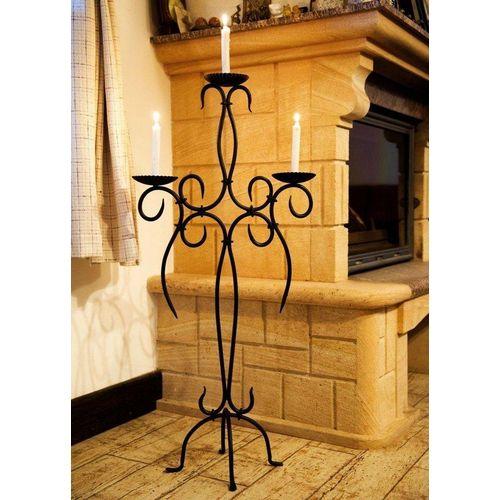 DanDiBo Kerzenständer »Kerzenständer Artus 100 cm Schmiedeeisen 21216 Kerzenleuchter Kerzenhalter Metall«