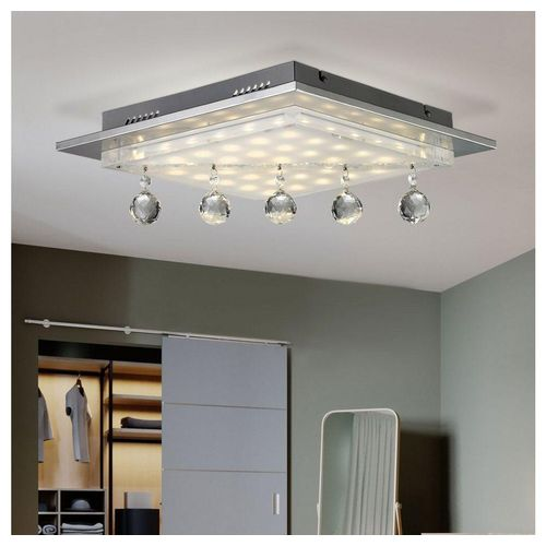 Esto Deckenleuchte, 19 Watt LED Decken Leuchte Kristall Luster Beleuchtung Glas Lampe Esto 749027