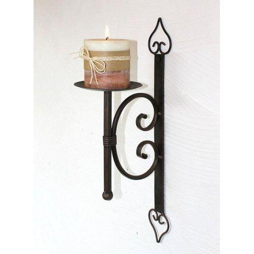 DanDiBo Wandkerzenhalter »Wandkerzenhalter 12110 Kerzenhalter aus Metall Wandleuchter 41 cm Kerzenleuchter«