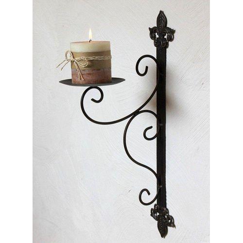 DanDiBo Wandkerzenhalter »Wandkerzenhalter 12111 Kerzenhalter aus Metall Wandleuchter 47 cm Kerzenleuchter«