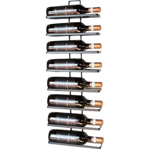 DanDiBo Weinregal »2x Weinregal Metall Schwarz Wand 4-Wine erweiterbar Flaschenregal«