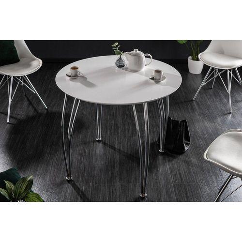 riess-ambiente Esstisch »ARRONDI 90cm weiß / chrom