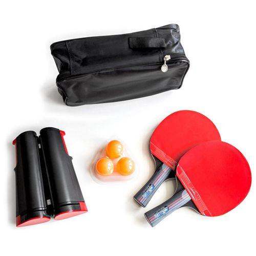 PRECORN Tischtennisschläger »2 x Tischtennisschläger + Tischtennisbälle + Tragetasche + ausziehbares Tischtennisnetz Tischtennis-Set