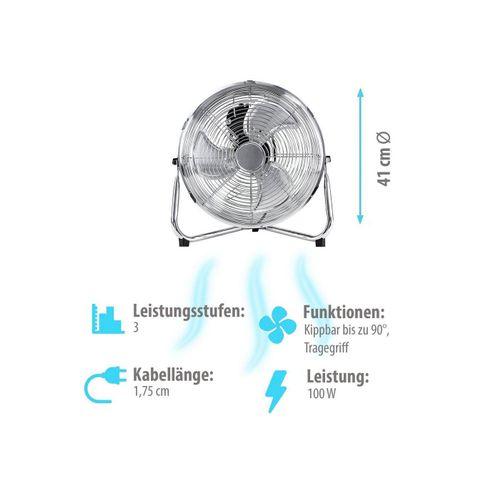 Grafner Bodenventilator Bodenventilator Tischventilator 41cm