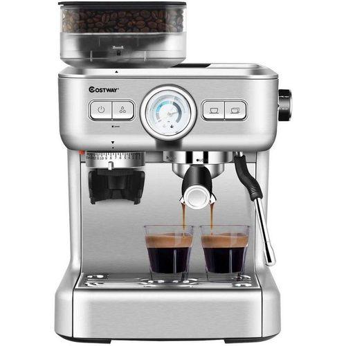 COSTWAY Siebträgermaschine Siebträgermaschine Kaffeemaschine