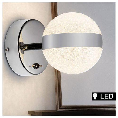 Globo LED Gartenstrahler, LED Spot Strahler Kugel Leuchte Wohn Zimmer Beleuchtung Design Kristall Wand Lampe Globo 56007-1
